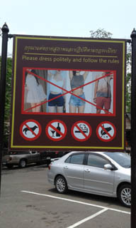 Polite sign for rules of Phanom Rung Historical Park