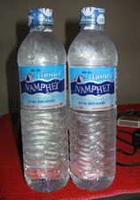 bottled water or naam blao
